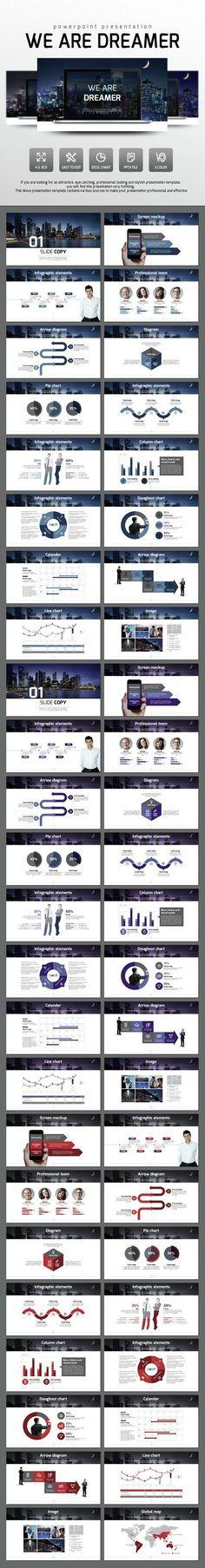 We Are Dreamer - PowerPoint Presentation Template #slides Download here: http://graphicriver.net/item/we-are-dreamer/14644348?ref=ksioks