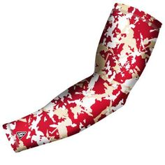 B-Driven Sports Pro Fit Compression Arm Sleeve Flaked Camo (Green) Available in many color options and 5 sizes including youth, Kids Unisex, Size: Small