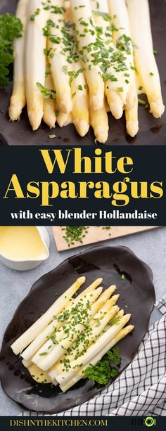 White Asparagus with Hollandaise. Learn how to prepare, cook, and enjoy this seasonal classic side dish with an easy blender Hollandaise sauce. Blender Hollandaise, Easy Hollandaise Sauce, Asparagus, Vegan Side Dishes, Vegetarian Paleo, Cooking, Low Carb Recipes, Crockpot Recipes, Food Photography