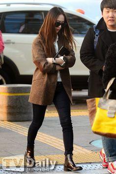 Airport Fashion: F(x) Krystal | Official Korean Fashion