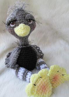 Crocheting: Simply Cute Ostrich Toy Crochet Pattern by Teri Crews Designs