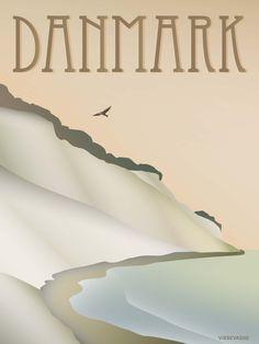 DANMARK PLAKAT - Klinten Postkort