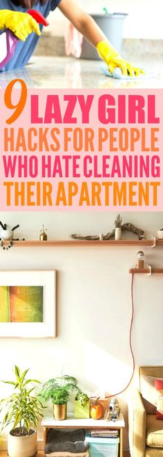 These 9 apartment cleaning hacks are THE BEST! I'm so glad I found these AMAZING cleaning tips and tricks ! Now I have some great ways to do spring cleaning and get my home clean! #homehacks #cleaningtips #cleaninghacks #lifehacks #cleaning #homeideas