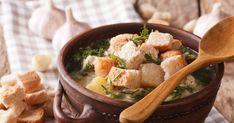 Loštická cesnačka so syrečkami Thai Red Curry, Ramen, Ethnic Recipes, Food, Essen, Meals, Yemek, Eten