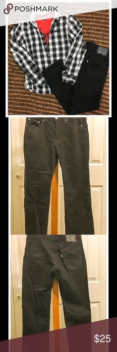 Mens Levi's 514 Black Jeans Means Levi's 514 Black Jeans. Size 30x30.  Worn one time in excellent condition!! Levi's Jeans Straight