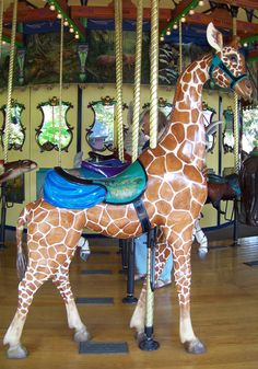 St. Louis Zoo Carousel  Giraffe