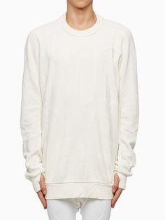 Block cut sweatshirt from the F/W2015-16 Boris Bidjan Saberi 11 in white