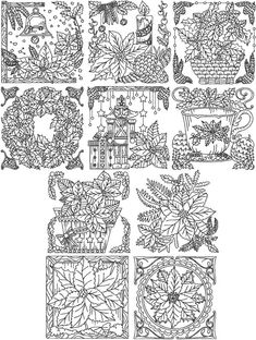 Advanced Embroidery Designs - Redwork Poinsettia Set