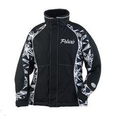 polaris Women's Snowmobile Coats | Polaris Women's Royal Black White Snowmobile Jacket | eBay