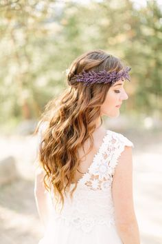 Boho waves & floral headpiece
