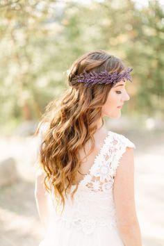 Boho waves & floral headpiece