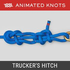 The Trucker's Hitch (Power Cinch Knot, Lorry Knot, Haymaker's Hitch, Harvester's Hitch) provides a mechanical advantage when being tightened. Survival Knots, Survival Skills, Quick Release Knot, Scout Knots, Sailing Knots, Hook Knot, Knots Guide, Decorative Knots, Overhand Knot
