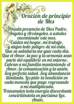 Catholic Prayers In Spanish, Archangel Prayers, Miracle Prayer, Beautiful Prayers, Bible Promises, Daily Prayer, Spanish Lessons, Horoscope, Religion