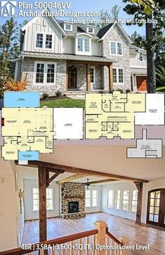 Architectural Designs Craftsman House Plan 500046VV has 4 beds | 3.5 baths | 3,600+ square feet of heated living space with an optional lower level (1,100+ sq. ft.). Ready when you are. Where do YOU want to build? #500046VV #adhouseplans #architecturaldesigns #houseplan #architecture #newhome #newconstruction #newhouse #homedesign #dreamhouse #homeplan #architecture #architect #houses #homedecor #northwest #handsome #craftsman