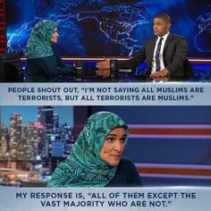 Either someone told the world that all terrorists are Muslim (they're not) -- or is in dire need of media training. Social Equality, Girl Power Quotes, The Daily Show, Words Worth, Equal Rights, The More You Know, Faith In Humanity, Social Issues, Worlds Of Fun
