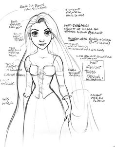 Glen Keane's Tangled Drawings