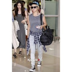 SNSD HYOYEON AIRPORT FASHION KPOP Fashion found on Polyvore featuring polyvore
