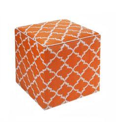 """Outdoor Cube """"Tangier"""" orange & weiß"""