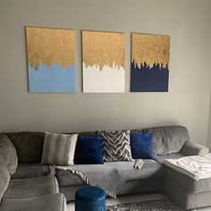 Gold Leaf Painting Modern Art Acrylic Painting Gift for Simple Canvas Paintings, Diy Canvas Art, Diy Wall Art, Diy Art, Canvas Wall Art, Wooden Christmas Crafts, Christmas Nativity, Feuille D'or, String Art Patterns