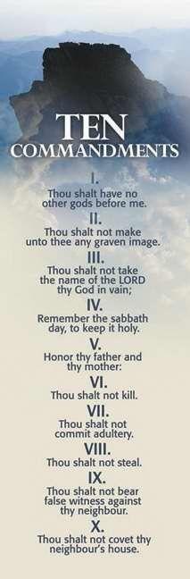 Ten Commandments Mt Sinai (BLUE) Bible or Book Bookmark (Pack 25) 469790 #BHPublishingGroup