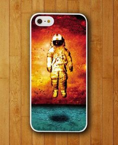 Astronot Flying On Space With Red Backgroud iPhone Skin Protector for iPhone 4 4S 5 5S 5C #iphone cover,  samsung galaxy s