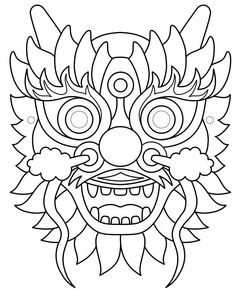 plantilla-mascara-dragon-chino.jpg (776×956)