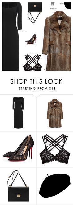 """""""Untitled #4382"""" by amberelb ❤ liked on Polyvore featuring Dolce&Gabbana, CO, Christian Louboutin, Agent Provocateur, Mulberry and Betmar"""