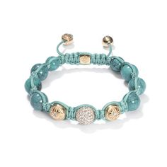 Shamballa// Turquoise, White Gold, Diamond and Gold Bracelet, price on request.