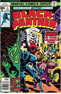 For sale black panther 3 marvel comics 1977 jack kirby artwork comic book emorys memories. Black Panther Marvel, Black Panther Comic Books, Black Comics, Marvel Comic Books, Comic Book Heroes, Comic Books Art, Comic Art, Marvel Art, Marvel Heroes