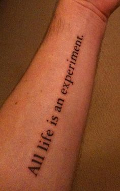 Quote tattoos <3