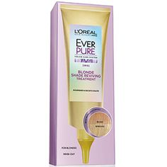 EverPure Blonde Shade Reviving Treatment hair mask neutralizes brassiness and boosts blonde color for a gorgeous shade. Neutral Blonde, Bright Blonde, Shades Of Blonde, Blonde Color, Gorgeous Blonde, Gorgeous Makeup, Blonde Balayage, Blonde Highlights, Side Bun Hairstyles