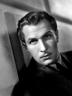 Vincent Price, Younger people think of him only as a horror guy, but he played a range of parts, and very well. Hollywood Stars, Hollywood Actor, Golden Age Of Hollywood, Classic Hollywood, Old Hollywood, Hollywood Glamour, Ronald Colman, Vincent Price, Tilda Swinton