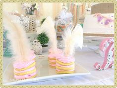 Boho chic cookies at a birthday party! See more party planning ideas at CatchMyParty.com!