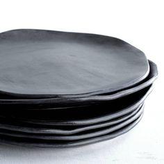 Plato de cerámica vajilla hecha a mano placa de cerámica Ceramic Tableware, Ceramic Teapots, Ceramic Clay, Kitchenware, Grey Dinnerware, Dinner Plate Sets, Dinner Plates, Pottery Plates, Ceramic Pottery