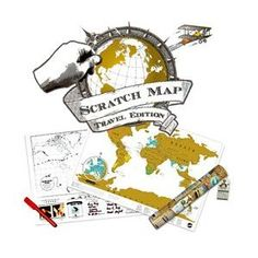 Scratch off where you've been as you travel around the world :)