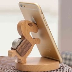 Practical Gift Cute Wood Horse Mobile Phone Holder|Unique Christmas Gifts - Unusual Gifts - ByGoods.com