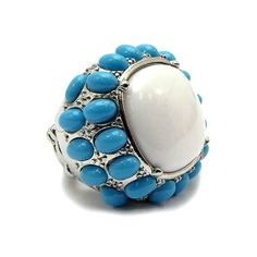 Brandee's Boho Style Turquoise & White Cocktail Ring - Only $23.95 ...