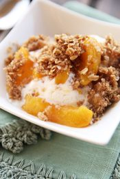 Fresh Peach Crisp - I'm making it with supplies scrounged from the DFAC.  Ah, Baghdad.  Wish me luck!