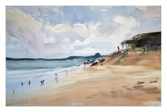 https://flic.kr/p/APkSq3 | Courtown beach JZ | Watercolor 54x35cm Arches CP, Kate Kos