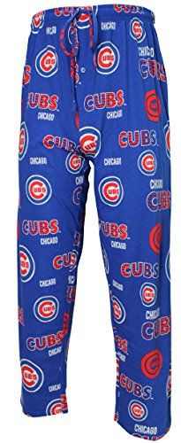 Chicago Cubs Mens MLB Royal Fusion Pajama Pants  http://allstarsportsfan.com/product/chicago-cubs-mens-mlb-royal-fusion-pajama-pants/  All Over Screened Cubs Graphics Made from 100% Soft Cotton Material Loose Fit Body, Machine Washable Body