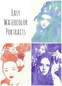 I would like to start this post by thanking Carmen  for suggesting I try out the Easy Watercolor Portrait tutorial  at the Grow Creative...