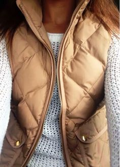 Puff Quilted Vest Fall Outfit 2014 autmn classy