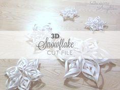 Freebie Friday! Snowflakes | Silhouette Angelika #cutfile #silhouetterocks #freebiefriday