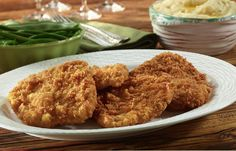 Cajun Fried Pork Chops ~ A spicy take on this Southern fried specialty.  ShoreLunch.com
