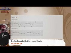 Are You Gonna Go My Way -  Lenny Kravitz Drums Backing Track with chords and lyrics