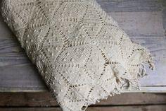 Crochet, vintage bedspread. Love the pattern