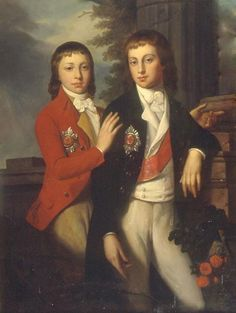 Jean-Laurent Mosnier (1743–1808) Portrait of Grand Prince August of Oldenburg (1783-1853) and Prince Georg of Oldenburg (1784-1812) 1790s Oil