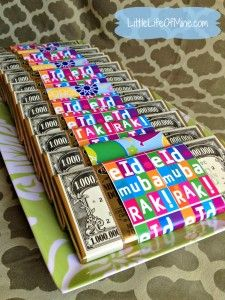 eid chocolate bars   Gift wrap from Silver Envelope