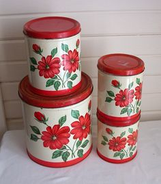 pretty vintage canisters $18.00 #gift