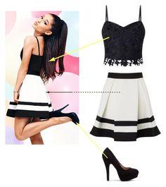 """Ariana Grande   "" by nazar-erginyavuz on Polyvore featuring moda ve Lipsy"